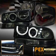 SHINY Smoke 1998-2004 Chevy S10 Projector LED Headlight +Signal Lamp+ Tail Light