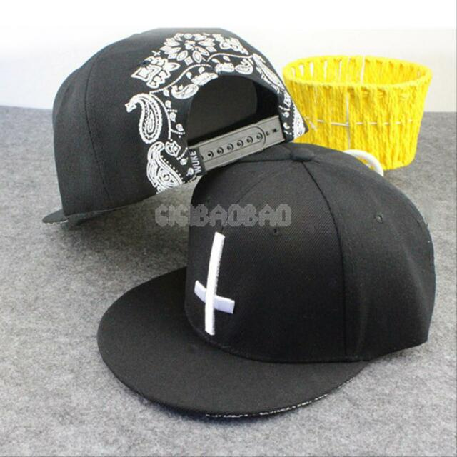 New Men's Women's Fashion Bboy Brim Adjustable Baseball Cap snapback Hip Hop Hat