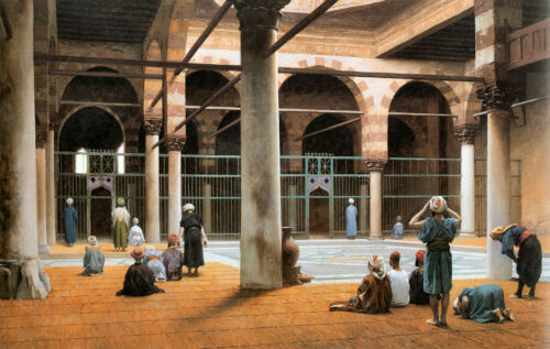 v1f53 Interior of a Mosque 1870 by Jean Leon Gerome Old Masters reprint