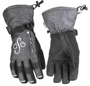 Warm Insulated Lily Collection Women's Snowmobile Glove - Charcoal Heather DSG