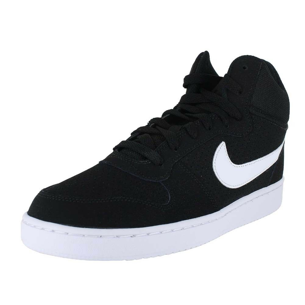 NIKE COURT BgoldUGH MID BLACK WHITE 838938-010 MENS US SIZES