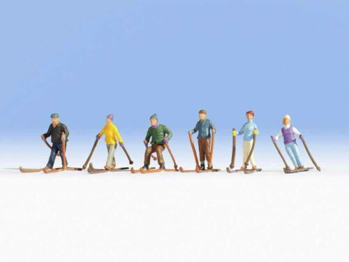 NEU /& OVP 6 Figuren NOCH 15828 Skifahrer