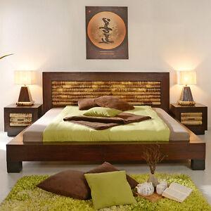 Bambusbett 140x200 Dream Holzbett Bettrahmen Bett Holz Natur Rattan