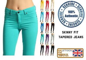 Ladies-Womens-SKinny-Fit-Coloured-Jeggings-Stretchy-Jeans-Trousers-Leggings-8-26