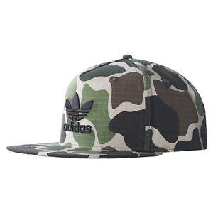 8d496a74bd4 Image is loading adidas-ORIGINALS-UNISEX-CAMO-TREFOIL-SNAPBACK-CAP-HAT-