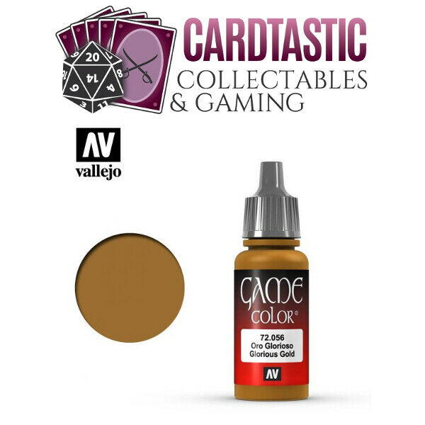 Vallejo Game Color Paint 17mL Glorious Gold 72.056