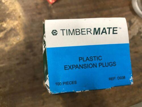 Timbermate x100 pack de prise murale Plastique Expansion Plugs 10 mm bleu