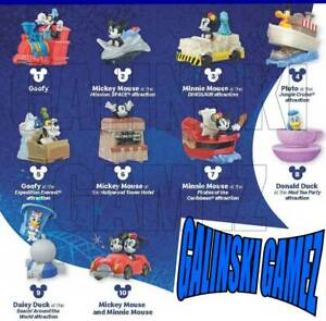 MICKEY-amp-MINNIE-039-S-Runaway-Railway-Happy-Meal-Toys-McDonalds-Toys