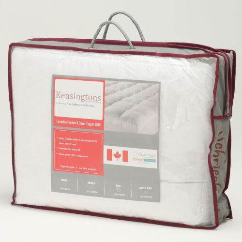 Luxurious Extra Deep Mattress Topper Bed Enhancer All Filling Materials /& Size