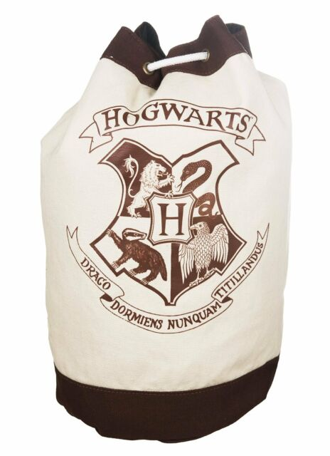 Harry Potter Hogwarts Crest Duffle Bag School Bag Back Pack Gym Bag