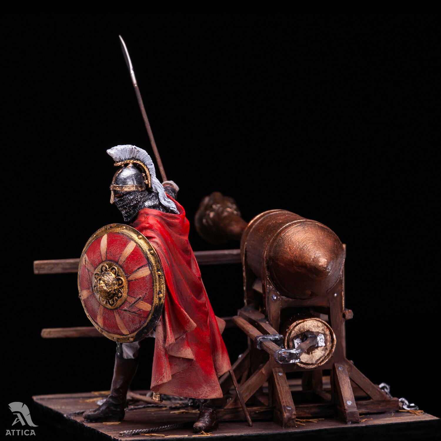 Byzantine Soldier with Greek fire fire fire 54mm 1 32 Tin Painted Toy Soldier   Art 0f18b1
