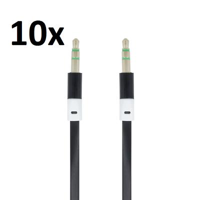 Gewissenhaft 10x 1m Aux Kabel Stereo 3,5mm Klinke Audio Klinkenkabel Für Handy Auto Schwarz Jahre Lang StöRungsfreien Service GewäHrleisten Handy-zubehör