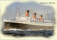 Postcard Cunard R.M.S. QUEEN MARY  JE.109