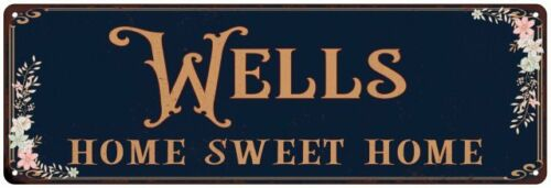 WELLS Home Sweet Home Victorian Look Personalized Metal Sign 106180046180