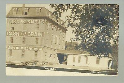 Crete Nebraska Rp C1910 Flour Mill Roller Mills Nr Lincoln Wilber Dorchester Ebay