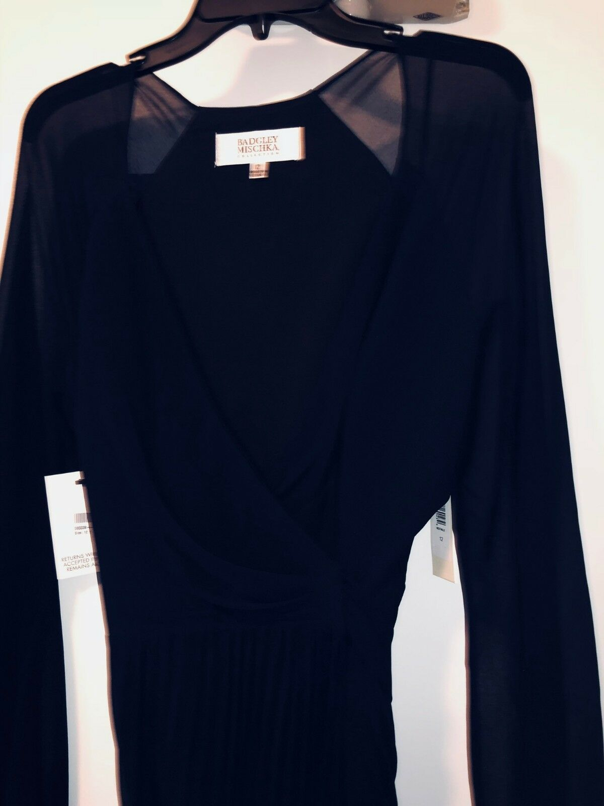 BAGDLEY MISCHKA PLEATED WRAP GOWN NAVY NAVY NAVY SIZE US12 UK16 e93635