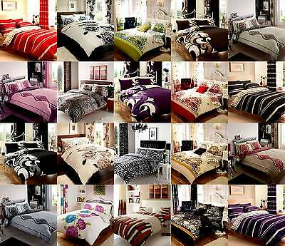 Duvet Cover With Pillow Case Quilt Cover Bedding Set Single Double King Super
