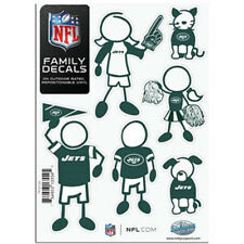 New York Jets Family Decals 6 Pack (NEW) Auto Car Stickers Emblems NFL