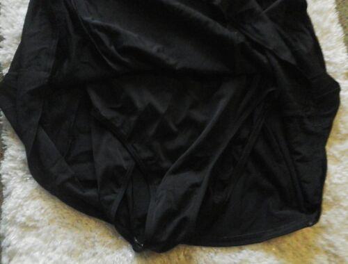 1 Spandex Seidig White And Ll Black Bohne Shorts 20 Badeanzug Piece Regular 18 5vWq66