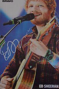 ED-SHEERAN-Autogrammkarte-Signed-Autograph-Autogramm-Fan-Sammlung-Clippings