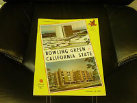 1965 CALIFORNIA STATE  AT BOWLING GREEN COLLEGE FOOTBALL PROGRAM EX-MINT
