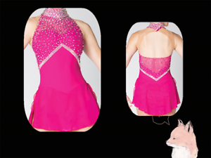 Adult Marvellous Ice Skating  Figure skating Dress Gymnastics  Costume Pink 2018  free shipping & exchanges.