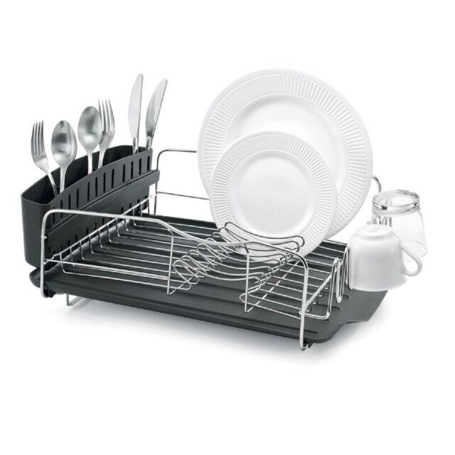 NEW POLDER ADVANTAGE 4 PIECE DISH RACK Cutlery Utensil Caddy Drainer Drying Tray