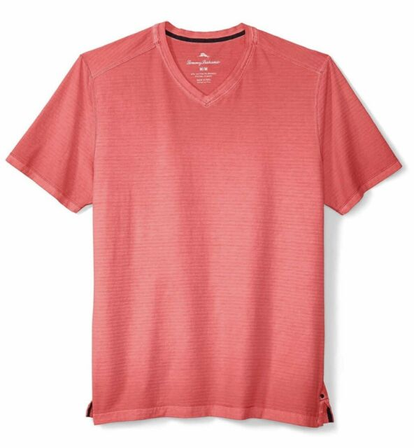 Tommy Bahama Cirrus Coast V-Neck S/S Cotton Blend Stretch (XXL) Mandalay Red NWT