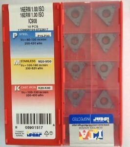 ISCAR 16ERM 16UN IC908 CNC carbide inserts threaded blade 10pcs