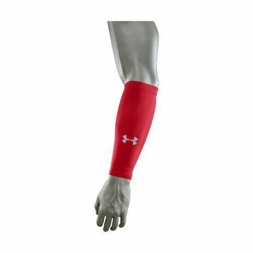 Under Armour Forearm Shriver 1263713-600 PAIR RED SIZE L//XL