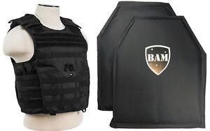 Level-IIIA-3A-Body-Armor-Inserts-Bullet-Proof-Vest-Exp-BLACK-M-XXL-10x12