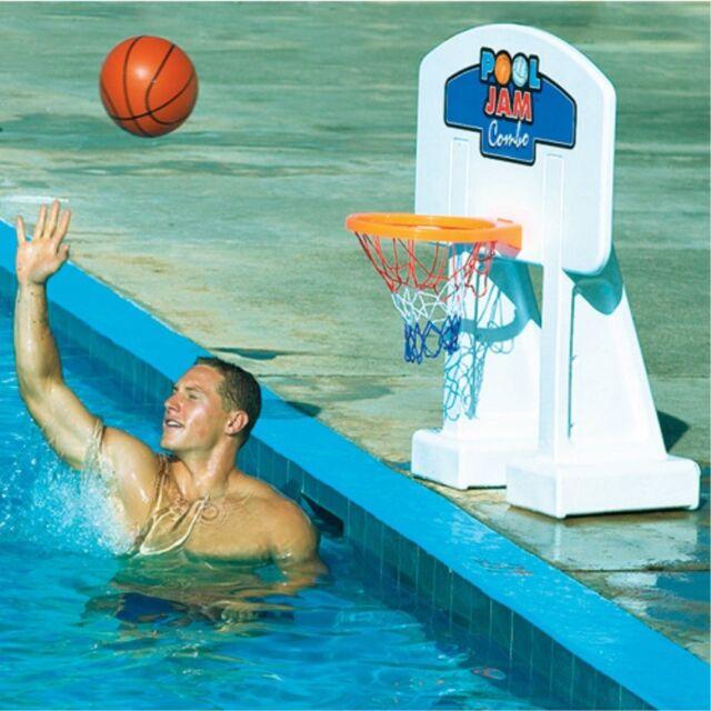 Pool Jam Combo Inground Volleyball Basketball Game