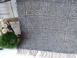 Teppich Shabby teppich läufer celtic grau creme webteppich in 2 größen landhaus