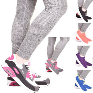Ladies-Womens-Lace-Up-Running-Gym-Fitness-Sports-Walking-Trainers-Shoes-Size-3-8