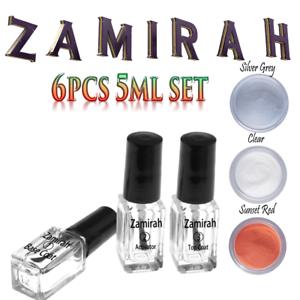 zamirah dipping powder nail acrylic 5pcs/6pcs 5ml starter