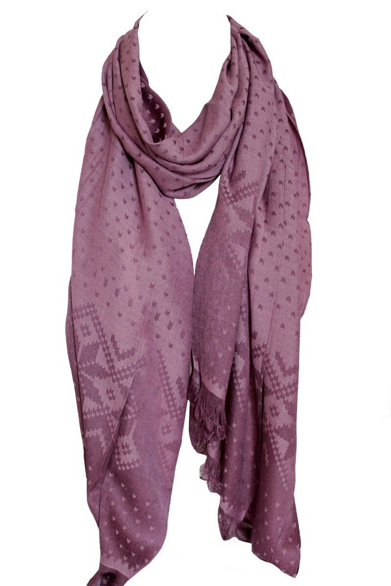 Stole Scarves Daisy Floral Print Two Sided Reversible Soft Pashmina Feel Wrap Shawl Head Scarf