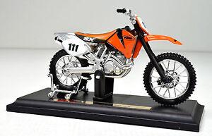KTM-520-SX-scala-1-18-arancione-Modello-Motocicletta-von-Maisto