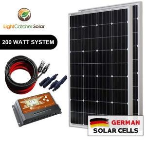 200-Watt-Mono-Solar-Panel-Kit-12V-200W-12-Volt-Battery-Charging-RV-Boat-Off-Grid