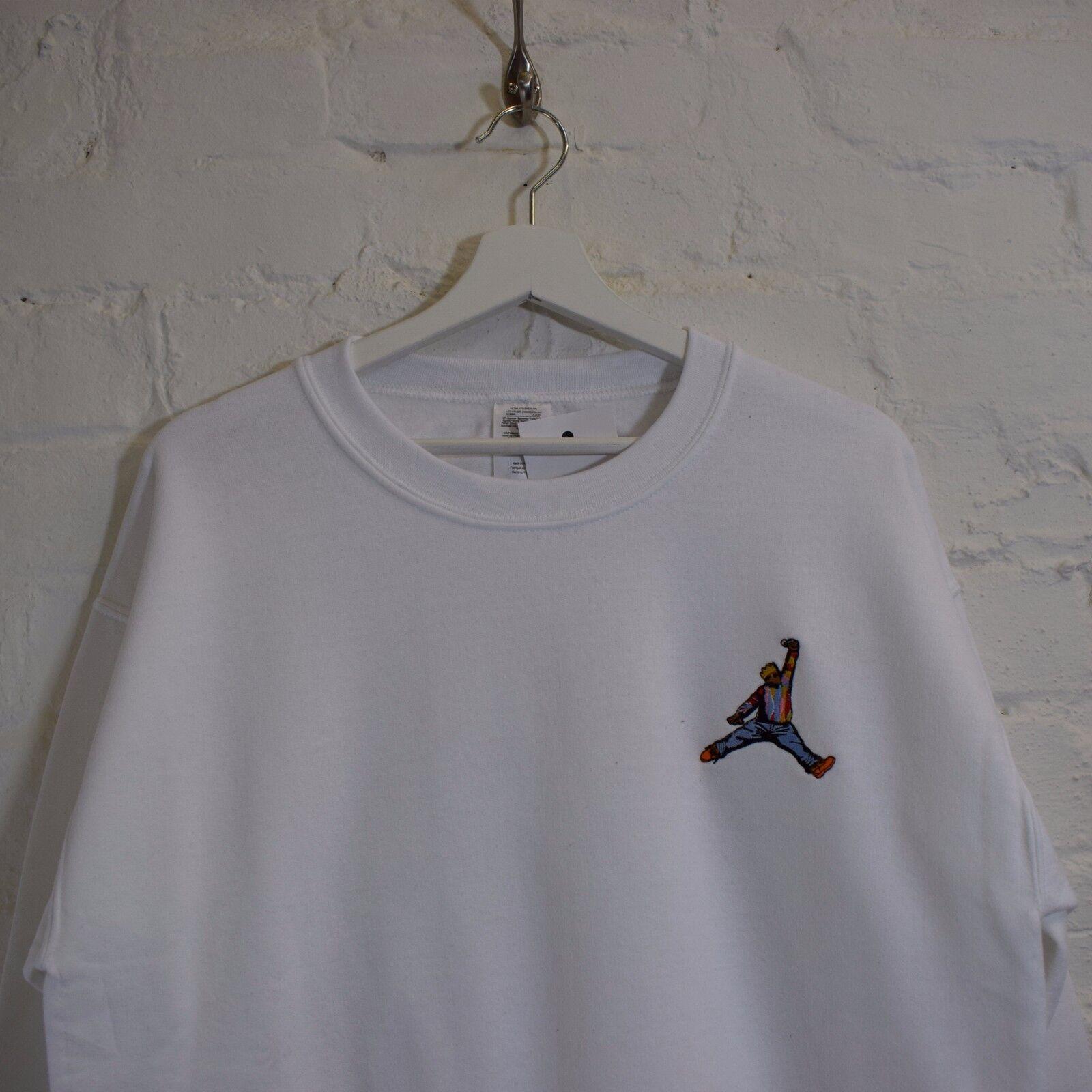 Actual Fact Biggie x Jordan hip hop Bianco Felpa a girocollo maglia