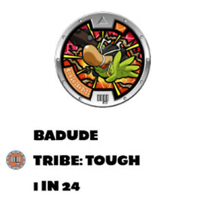 Yo-Kai Watch Medal Collection Series 1 BADUDE with QR Code
