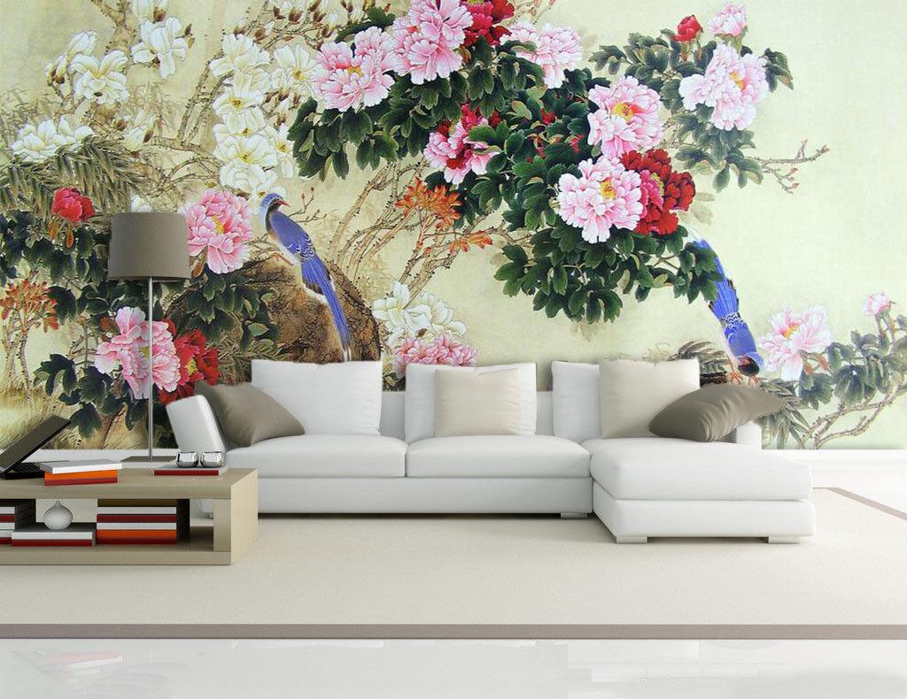 3D Peony Garden 737 Wall Paper Murals Wall Print Wall Wallpaper Mural AU Summer
