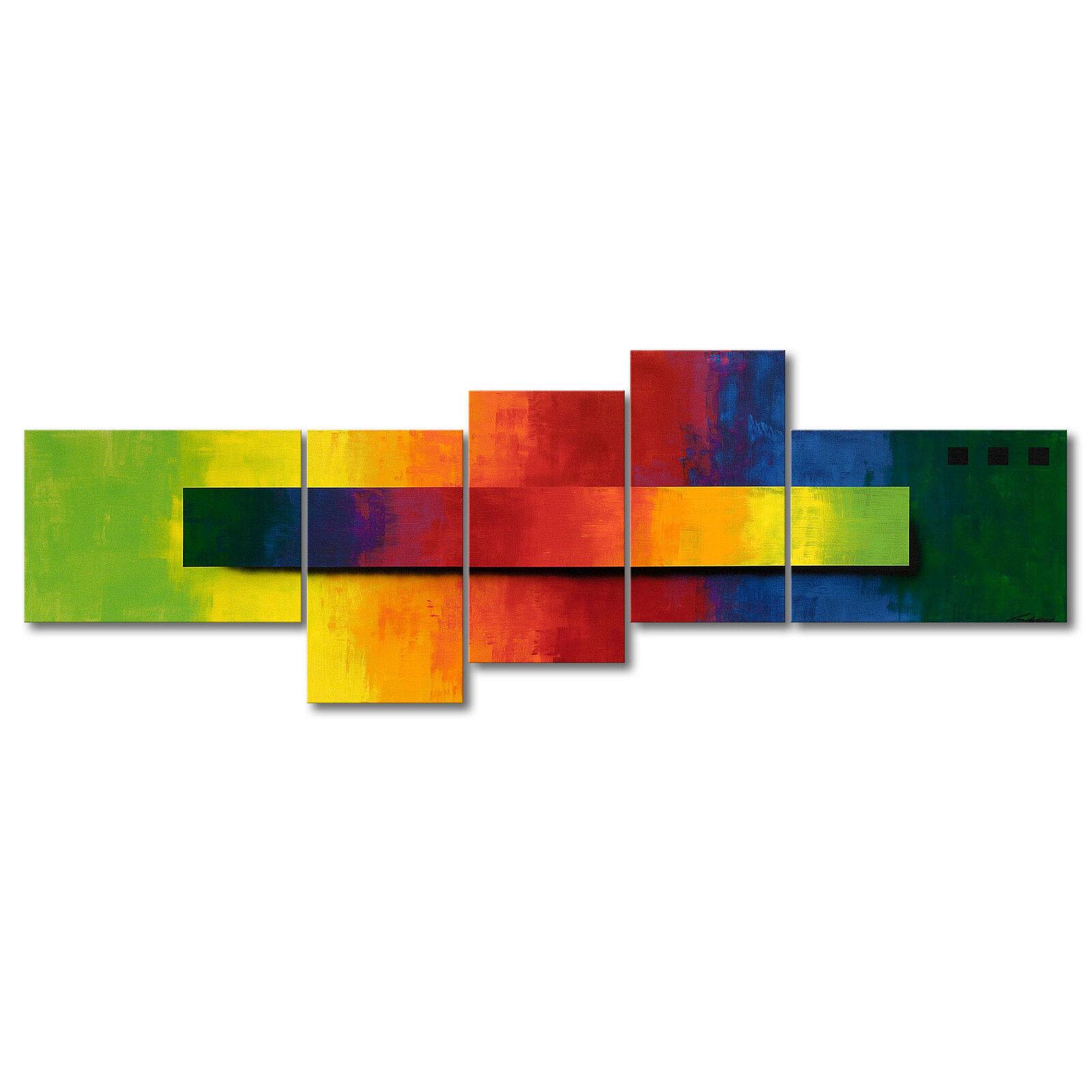 100% handgemaltes Bild - Das XXL Wandbild  Facets of a Rainbow