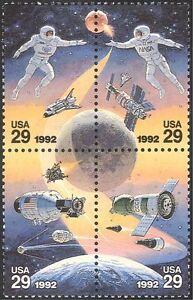 USA-1992-spazio-razzi-astronauti-atterraggio-sulla-luna-Shuttle-Apollo-4v-BLK-n43290