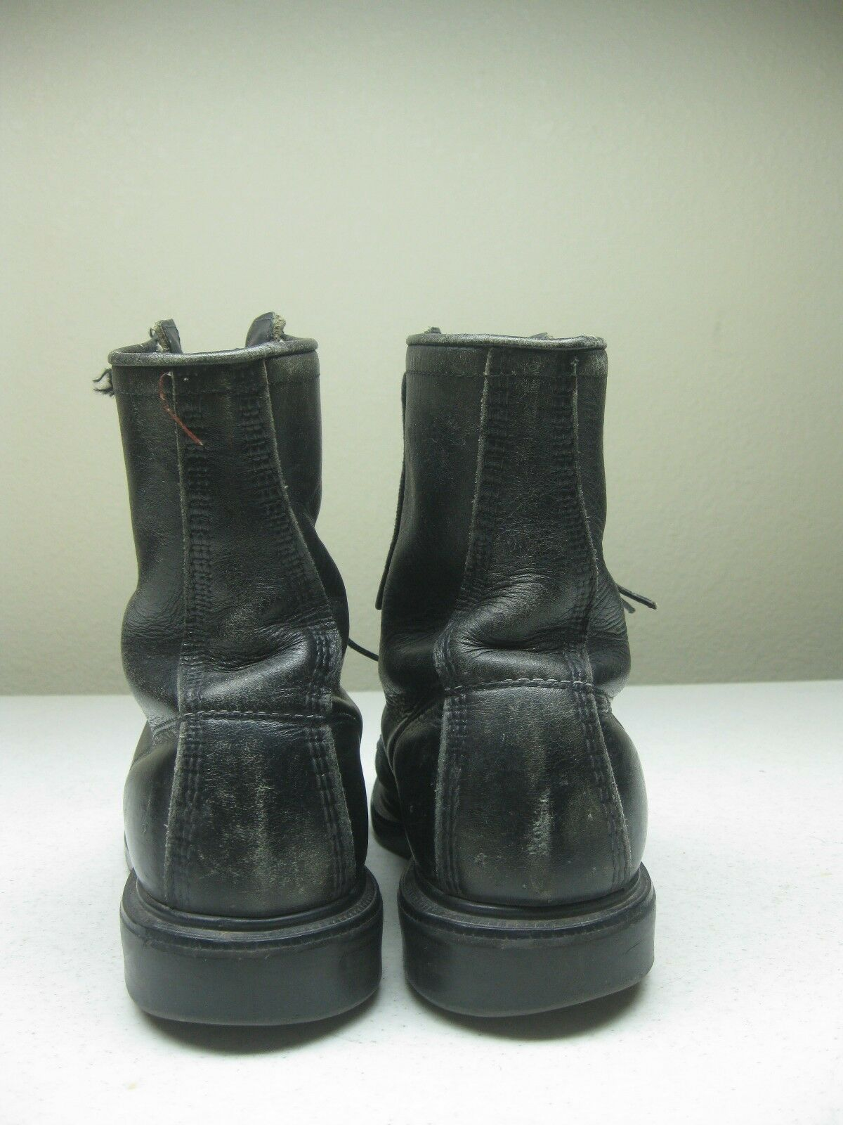 DISTRESSED BLK rot rot rot WING ZIP UP LOGGER LINEMAN PACKER FARM CHORE Stiefel Größe 6.5 D 0f332e