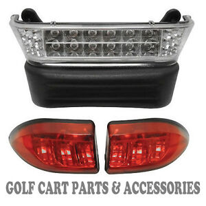 Club Car Precedent Golf Cart LED Headlight & Tail Light Kit (GAS 2004-UP)