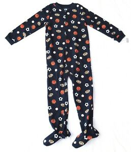 Only Boys Fleece Video Gamer Navy Footed Pajamas Blanket Sleeper