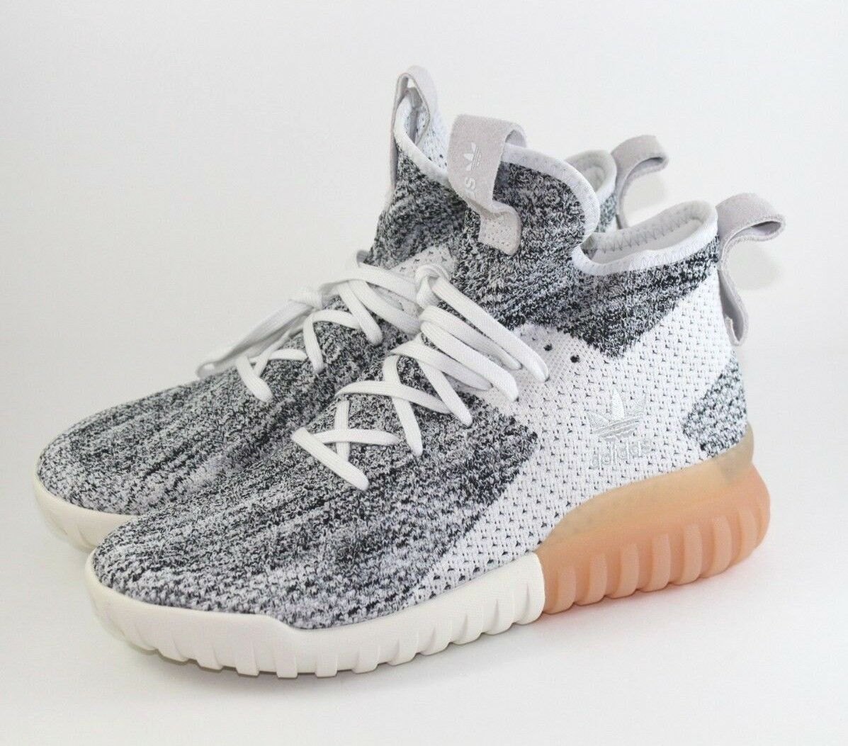 Adidas Tubular X Pk Primeknit Fashion Crystal Sneakers Crystal Fashion Wht Grey BY3146 Size 8.5 354d49