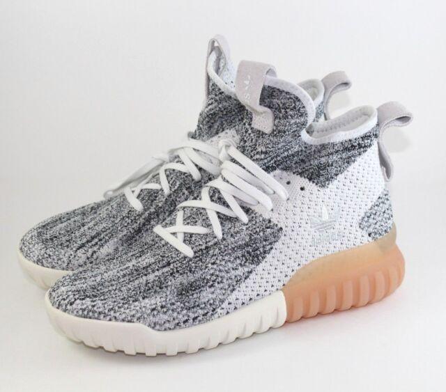 best website a6ab1 a9a21 Adidas Tubular X Pk Primeknit Fashion Sneakers Crystal white Grey BY3146  Size 7