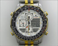 CITIZEN WR100 GN-4-S / C300 10 Bar World Time Chronograph Wrist Watch White Dial