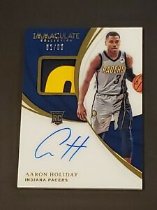 2018-19-Immaculate-Aaron-Holiday-RPA-RC-Sick-Patch-AUTO-99-Autograph-Rookie